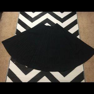 Lauren black cotton circle skirt. Size 6